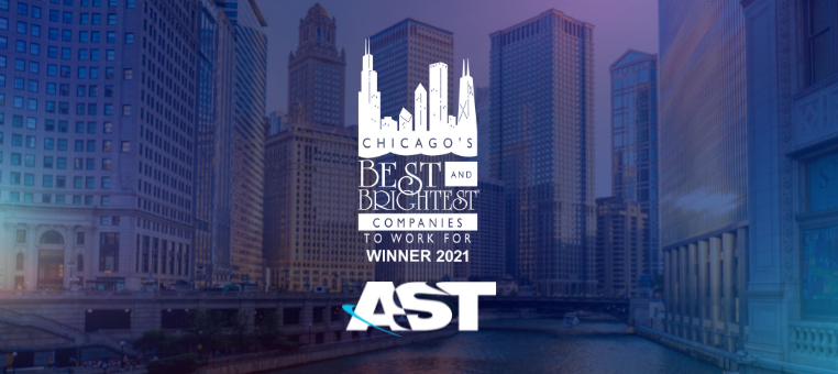 AST Wins Chicago's Best and Brightest Companies to Work For, 2021