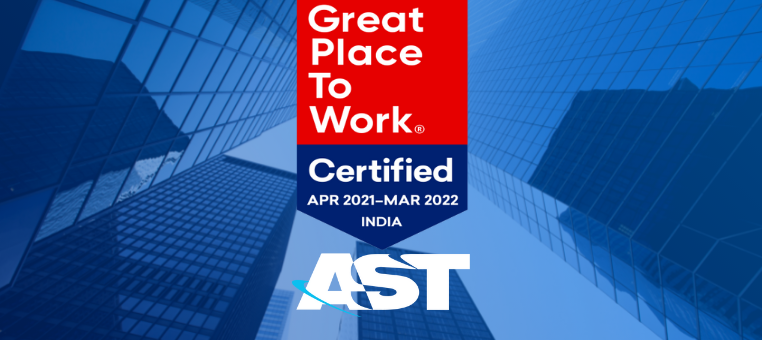 AST India Achieves Certification as Great Place to Work®